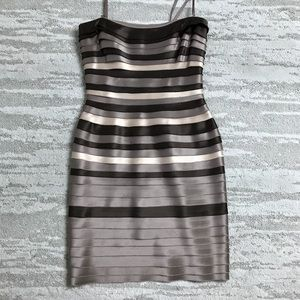 BCBG Brown Layered Mini Dress Size 0